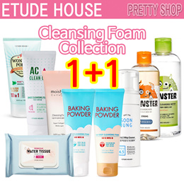 1+1 [Etude House] Cleansing Foam Collection /Baking Powder/AC Clean Up/Wonder Pore/Moistfull collage
