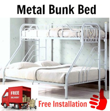 ★New Metal Bunk Bed★Silver Color★Fit For Queen Size And Single Size Mattress★Furniture Warehouse