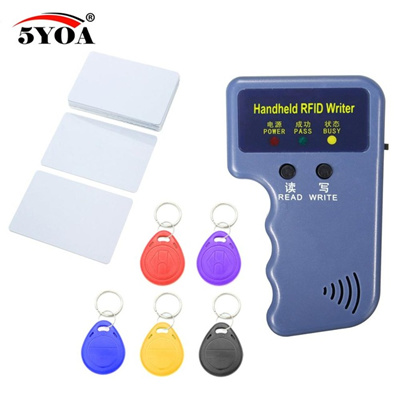 [US$14 81](▼32%)Handheld 125KHz RFID Duplicator Copier Writer Programmer  Reader +5 Keys+5 pcs Cards EM4305 T5577