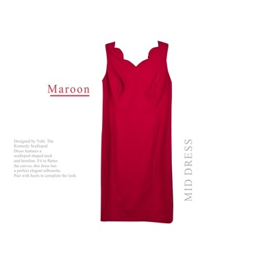 TALBOTS DRESS TOP MAROON