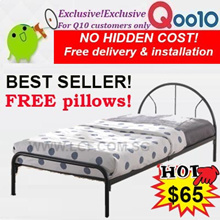 FREE PILLOWS!Singapore furniture sales!Single Metal bed frame offer! FREE DELIVERY+INSTALLATION
