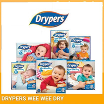 [RM47.2 After 22% Coupon] Drypers Wee Wee Dry (S82 / M74 / L62 / XL50 / XXL40) x 2 Packs