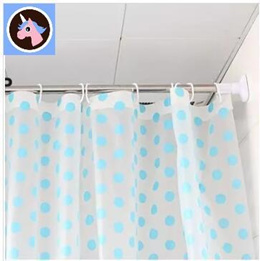 Singapore Free perforated curtain rod Telescopic bathroom shower curtain rod shower curtain rod curt