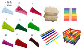 DIY materials- hot Color Chenille Stems Pipe Cleaners Kindergarden/7ct white board