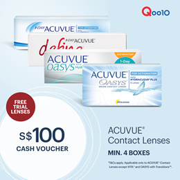 ACUVUE® $100 CASH VOUCHER | NOW AT $84 1 - 4 May Only!