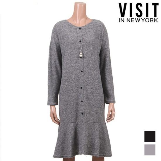 ・ビジット・インニューヨークボカシムードルーズフィットワンピースVTJOP12 面ワンピース/ 韓国ファッション