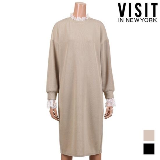 [ビジットニューヨーク]ポイントレースワンピース_VUAOP29 面ワンピース/ 韓国ファッション