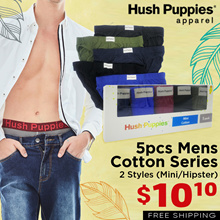 Hush Puppies 5pcs Mens Cotton Mini / Hipster | Only $2 per Piece! | Free Delivery