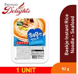 【Korea Baekje Instant Rice Noodle Seafood Flavour 】Must Try ! Low Calories !