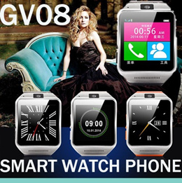 2015 Newest Smart Watch GV08 Bluetooth support SIM card smart watch Phone with camera Mate Handsfree for iphone6 iphone5/5s Samsung Galaxy Note4/3/2 S5/4/3 all smart phone tablet pc