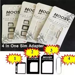 4 in 1 Sim Card adaptor 3 in 1 Eject Pin Nano Micro Adapter Noosy Iphone 5 Ipad Samsung S4 Note 3