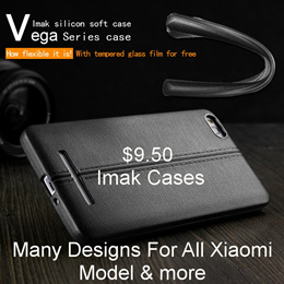 $8 Only For Nillkin And Imak Case For Xiaomi Phone And Tempered Glass Screen Protector