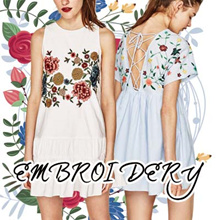 [ FREE SHIPPING ] NEW Embroidery Blouse Shirts T-shirt TOP DRESS Collections