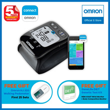 Omron Bluetooth Wrist Blood Pressure Monitor HEM-6232T [5 Years Local Warranty] FREE Pedometer!!