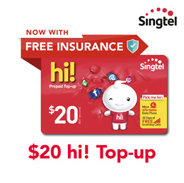 Singtel $20 hi! Top-up