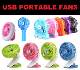 【CLEARANCE PRICE!!!】USB Rechargeable Hand Fan ● Portable Desk Fan