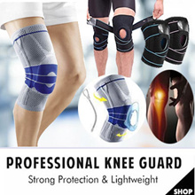 😍INSTOCK Professional Home Gym Knee Guard with Metal Support and Silicone Cover / Breathable