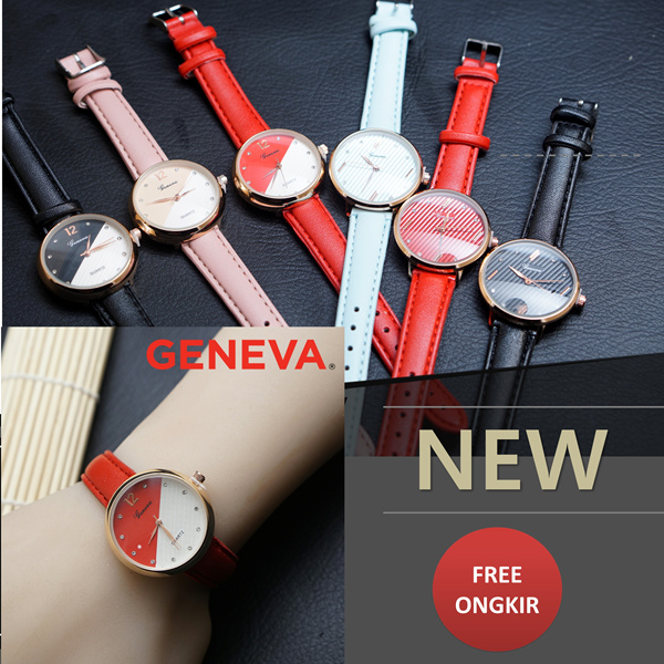 NEW!!! MUST HAVE_JAM TANGAN FASHION LEATHER GENEVA_FREE ONGKIR Deals for only Rp135.000 instead of Rp135.000