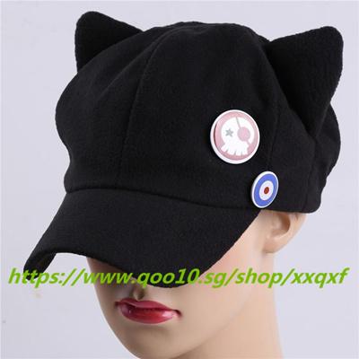 d3a268bd730 Qoo10 - Anime Cat Ear Cosplay Hat Warm Women Baseball Cap (Black ...