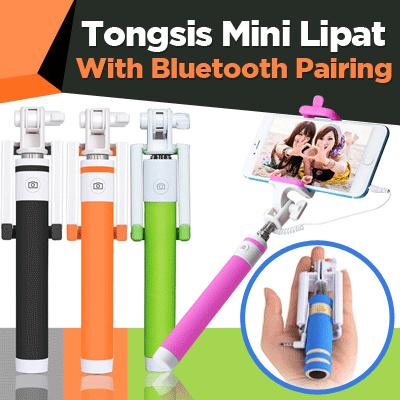 Tongsis Mini / Tongsis Macaron Lipat Tongsis Kabel Lipat Mini Deals for only Rp9.500 instead of Rp9.500