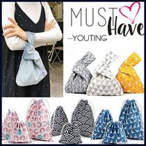💕 Best Christmas gift 💕lunch bag / Japanese wristlet / drawstring bag / canvas bag / pouch/ dress