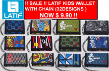 KIDS WALLET WITH CHAIN / ADULT AND TEEN WALLET UNISEX