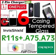 Oneplus 6♥5T♥5♥Oppo♥R15♥R15 Pro♥R11s♥R11s +♥A75♥A73♥Tempered Glass Screen Protector♥Full Cover♥Case