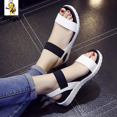 75a0aadcec8c5 AARDIMI Women Sandals Summer Shoes Peep-toe Slip On Flat Sandals For Woman  Roman Style