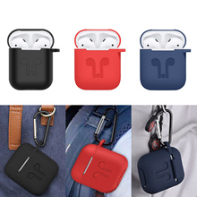 Airpods Silicone Case / Hang Case / Carrying Clip Case/for Apple AirPods Headset Protective Case