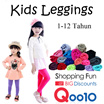 3 Pcs Celana Legging Anak 1-12 Tahun / Bahan Spandek Kaos Cotton