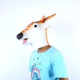 5fb859f8f825 COUPON · Pretty Latex Animal Sika Spotted Deer Head Mask Halloween Costume  Party Christmas Theater Prop