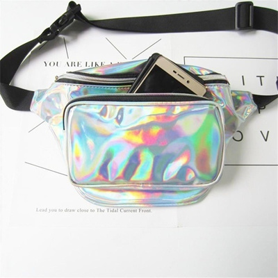 d58c1fae0d55 Hot Transparent Fanny Pack Punk Lady Girl Retro Rainbow Purse Women Waist  Bag