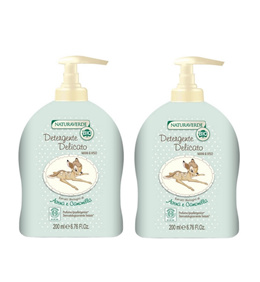 NATURAVERDE ORGANIC DISNEY BABY DELICATE FACE AND BODY WASH BAMBI 200ML X 2 BOTTLES