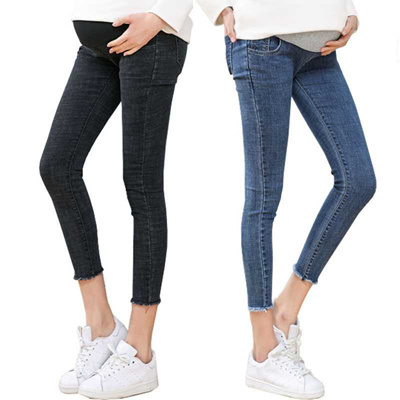 8f1096d442039 store Maternity Clothes Ninth Pants Maternity Jeans For Pregnant Women  Clothes Skinny Denim Stretch