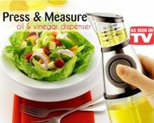 Press And Measure Oil / Vinegar Dispenser - Alat Ukur Takaran Minyak Goreng (As See on TV)