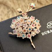 Email Korean Brooch Vintage accessories ladies Crystal Pin Brooch cute snowflake bear