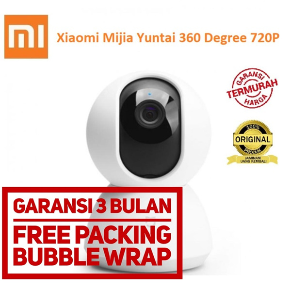 Xiaomi Yi Mijia Yuntai Smart Dome WiFi IP 360 IP Camera CCTV 720P Deals for only Rp550.000 instead of Rp550.000