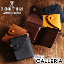 825d979f68a6 FORTEN wallet fold wallet mens ladies leather leather GROUND spring cap  Cramp FRT-GROUND-
