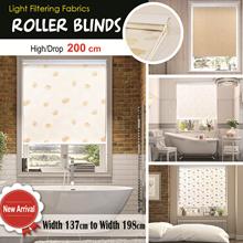 [Home Blind]  Korea Roller Blinds / Light Feltering / Width 137~198cm / Drop 200cm