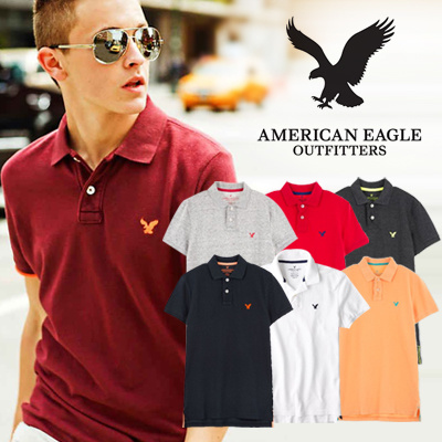 8e18eec8 [Auth][American Eagle]☆Pique T shirts☆Mens REACTIVE POLO