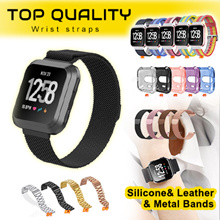 💋Littleredshop💋Fitbit Versa watch straps band Soft Silicone Classic leather metal stain