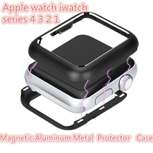 Apple watch band iwatch series 4 3 2 1 Magnetic  Metal  protection  Case