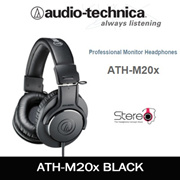 AUDIO TECHNICA ATH-M20x Professional Monitor Headphone / Black Color/ With 1 Year Warranty