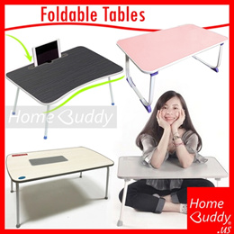 [FREE Delivery!] TABLE Foldable  ■ Floor/ Bed Table ■ Adjustable 3-Heights. Stainless_ Stocks SG