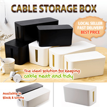 Cable Storage Box Organizer Hideaway Cable Box Management Safety Computer Wire Children Phone Clean
