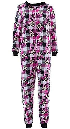 Medium Disney Minnie Mouse Women/'s Pink Plaid Union Suit Pajamas New