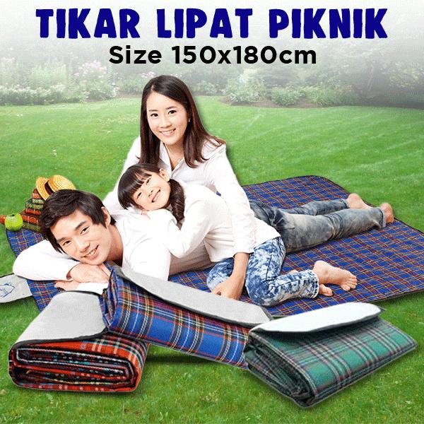 Matras Piknik Foldable / Matras Lipat Piknik / Tikar Tamasya Lipat Deals for only Rp63.600 instead of Rp63.600