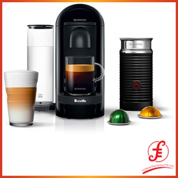 Nespresso VertuoPlus Premium Coffee Machine (Black) + + FREE 12pcs capsules (SINGLE) (VERTUO PLUS)