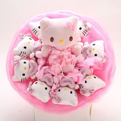6b9304f37 Valentine Day Flower Bouquet Plush Toy Flower Valentine Gift Hello Kitty  Bouquet
