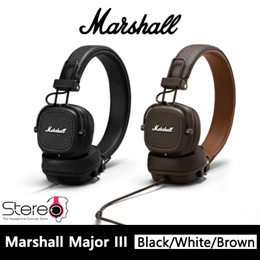 Marshall Major III Headphone with 1 Year local warranty in Black  Brown  White